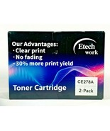 2 Pack Etech Global Services Toner Cartridge Use For Laser Printed CE278A - $28.70
