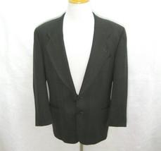 UNGARO Mens (Size 41R) Brown Plaid 2 Button 100% Wool Blazer Sport Coat ... - $19.95