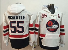 Classic Winnipeg Jets 55 Mark Scheifele Ice Hoodies Hockey Jersey White - $89.98