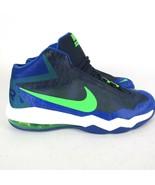 Nike Air Max Audacity Basketball Shoes sz 13 Navy Green Streak White 704... - $70.54