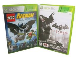 Batman Lego & Batman Arkham City Xbox 360 Bundle Lot of 2 - Fast Shipping - $14.49