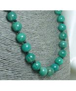 Russian Amazonite Gemstone Round Beaded Necklace  - $58.00