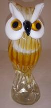 "Blown Glass Owl Figurine Art Animal Bird 7"" - $69.29"