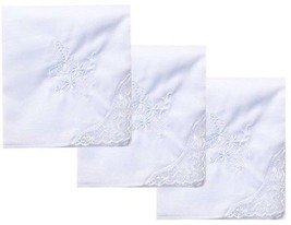 Cute Butterfly White Embroidery Cotton White Handkerchiefs Hanky Wedding... - $12.23