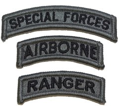 US Army Special Forces Airborne Ranger Patch - ACU/Foliage Green - $6.85