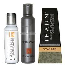 THANN 3pc CONDITIONER+BODY WASH+SOAP BAR Aromatic Wood TRAVEL Orange+Tan... - $95,81 MXN