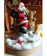 Cadona Santa and Reindeer Candle Topper - $15.79