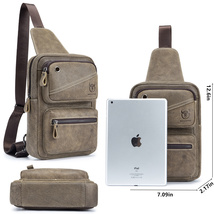 Bull Captain Sling Leather Backpack for Men Casual Ipad Pack for Travel/... - $56.99