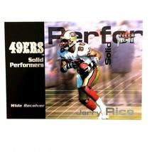 Jerry Rice 2001 Fleer Premium Solid Peformers Insert #20 NFL HOF 49ers - $3.91