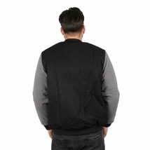 Primitive Outfield Varsity Button Up Letterman Fashion Jacket Black NWT image 2