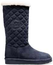 MICHAEL MICHAEL KORS  Sandy Quilted-Suede Navy Boots Multiple Sizes - $124.99
