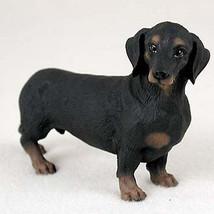 DACHSHUND (BLACK TAN) DOG Figurine Statue Hand Painted Resin Gift Pet Lo... - $16.74