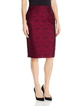 Calvin Klein Women's Metallic Pencil Skirt (8|Blk/Red Blk/Rge) - $130.79
