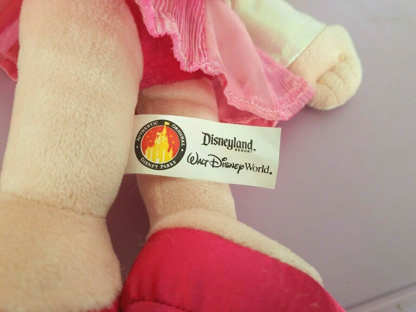 Disney Parks Sleeping Beauty Aurora Toddler Soft Doll Pink Dress