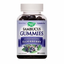 Nature's Way Sambucus Elderberry Gummies, Herbal Supplements with Vitami... - $19.50