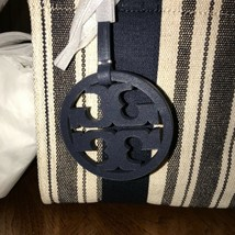 NWT Tory Burch Miller Striped Mini Tote Navy Awning Stripe  - $252.09