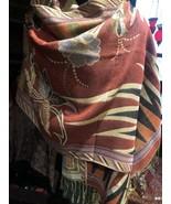 Women Embroider Flower Pashmina Cashmere Shawl Scarf Winter Warm Tassels... - $34.65