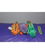 """3 Piece Gymboree Dinosaur Stuffed Animal Plush 6"""" - $12.86"""
