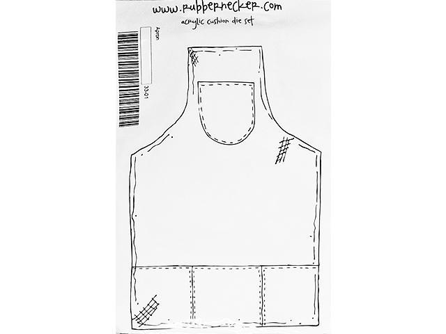 Rubbernecker Apron Rubber Cling Stamp #33-01