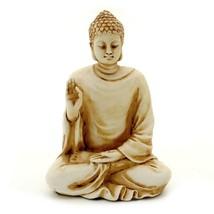 "BUDDHA STATUE 3"" Ivory Color Resin HIGH QUALITY Shakyamuni Figurine Budd... - $16.95"