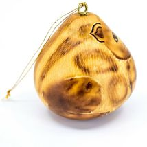 """Handcrafted Carved Gourd Art Cat Kitten Kitty 2.5"""" Ornament Made in Peru image 4"""