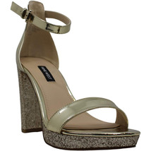 Nine West Womens Dempsey Gold Patent Platform Sandals 8M - $52.99