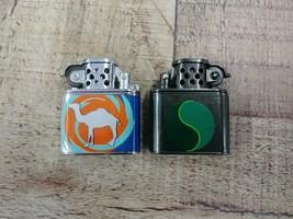 LOT OF 2 Vintage 1997 CAMEL & SALEM CIGARETTES Miniature Flip Top Lighte... - $32.67