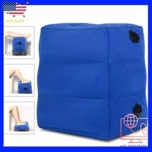 Inflatable Travel Footrest Rest Pillow Leg Foot cusion Portable Pad Kids... - €25,75 EUR