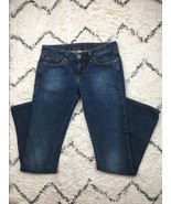 Lucky Brand Women's Lola Boot Cut Distressed Dark Wash Jeans Size 4/27 - $28.88