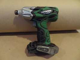 Hitachi Cordless Impact Drill Driver WH14DAF2 Used Works Well Bare Tool Only - $34.99