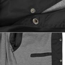Men's Lightweight Water Resistant Button Up Nylon Windbreaker Coach Jacket image 5
