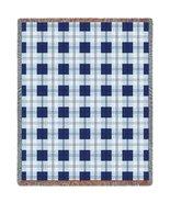 Blueberry Plaid Throw - 70 x 53 Blanket/Throw - $64.95
