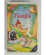 Bambi VHS Disney Black Diamond Red Signature Movie 942 - $6.79