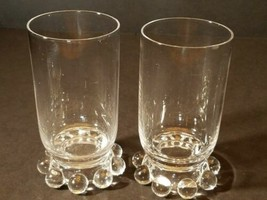 Elegant Imperial Glass Candlewick Footed Juice Tumblers No.400/19 5 oz Lot of 2 - $13.99