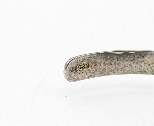 925 LA Sterling Silver - Vintage Engraved Serenity Prayer Cuff Bracelet - B5496