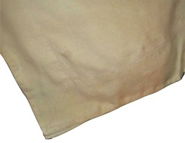 Williams Sonoma Linen Double Hemstitch Tablecloth 68 x 102 Beige Flax Classic - $79.17