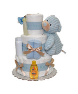 Its a Boy Cord Diaper Cake 3 Tiers - $110.00