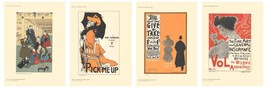 Bundle- 4 Assorted Modern Posters 1890 Authentic Lithographs - $297.00