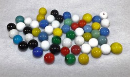 Lot of 56 Antique Vintage Akro Agate Solid Colored Marbles - $29.95