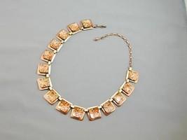 STUNNING Art Deco Renoir Copper Enamel Bib Necklace - $29.99
