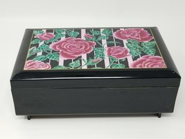 Vintage Black Rose Acrylic San Francisco Music Box Company Marandino Jew... - $24.70