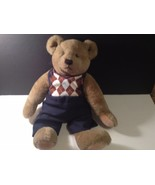"""Gund Bialosky Bear 1982 With Pants & Sweater Jointed 18"""" tall Stuffed An... - $21.49"""