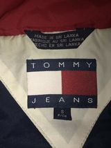 Vintage 90s TOMMY Jeans  HILFIGER Big Flag Logo Nylon Crop Jacket Colorblock S image 9
