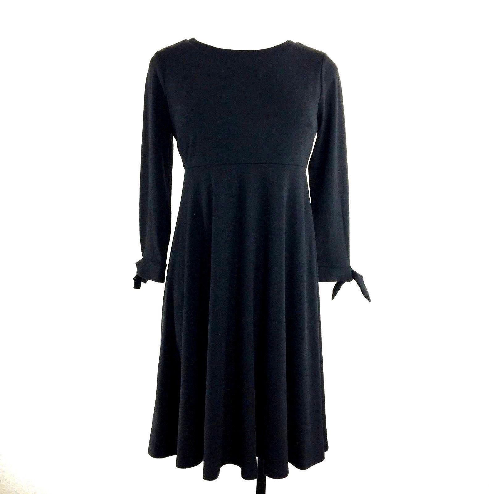 5e9755e5ea754 NEW Ann Taylor LOFT 2 Maternity Small Dress Black Bow Tie Sleeve Washable  Work - $24.95