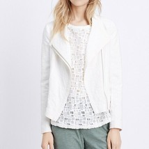 Vince Women's Ivory Cream Stretch Frise Asymmetrical Scuba Jacket Small - $49.49