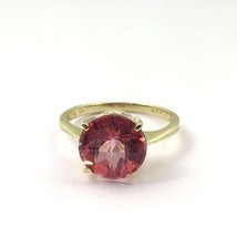 10k Yellow Gold Women's Ring With A Round Rhodolite Color Stone Ring - $271.15