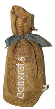 Burlap Embroidered Wine Gift Bags-Congrats-Keep On Hand for Last Minute ... - $6.99
