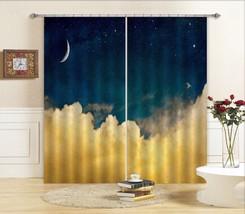 3D Moon Night 0499 Blockout Photo Curtain Print Curtains Drapes Fabric Window UK - $145.49+