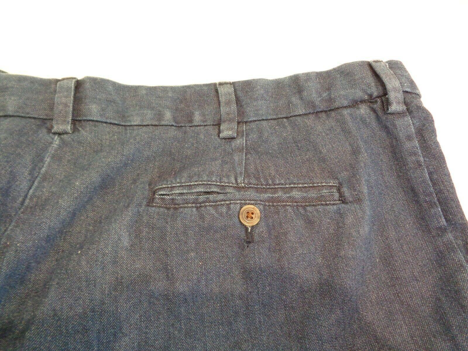 Roundtree & Yorke Size 46 EXPANDER WAISTBAND Denim Flat Front New Mens Shorts