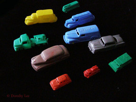 Vintage Car Lot Plastic H&S Plastics + - $16.99